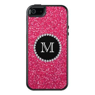 Funda Otterbox Para iPhone 5/5s/SE Brillo rosado, diamante, femenino, con monograma