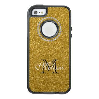 Funda Otterbox Para iPhone 5/5s/SE Brillo y diamantes del oro, su nombre e inicial