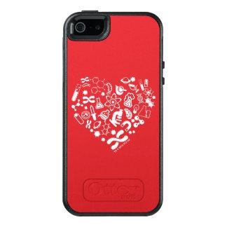 Funda Otterbox Para iPhone 5/5s/SE Corazón del espacio y de la ciencia