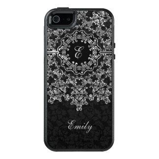 Funda Otterbox Para iPhone 5/5s/SE Cordón negro del damasco y de la plata