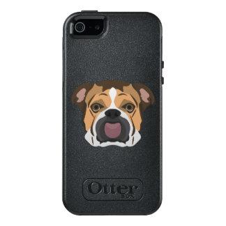 Funda Otterbox Para iPhone 5/5s/SE Dogo del inglés del ilustracion