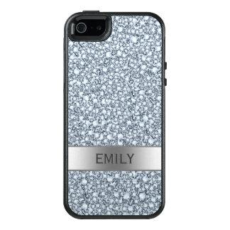 Funda Otterbox Para iPhone 5/5s/SE El blanco encrustó el modelo del brillo de los