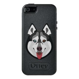 Funda Otterbox Para iPhone 5/5s/SE El ilustracion persigue el husky siberiano de la