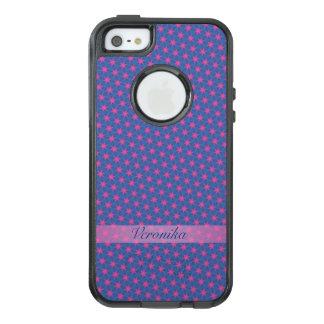 Funda Otterbox Para iPhone 5/5s/SE Estrellas del rosa en un fondo azul