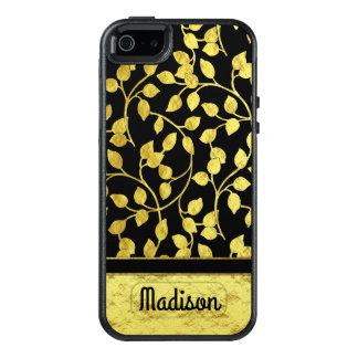 Funda Otterbox Para iPhone 5/5s/SE Falsas hojas botánicas del efecto metalizado de