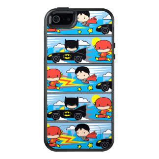 Funda Otterbox Para iPhone 5/5s/SE Flash, superhombre, y Batman de Chibi que compite
