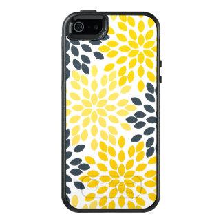 Funda Otterbox Para iPhone 5/5s/SE Floral moderno del carbón de leña amarillo y gris
