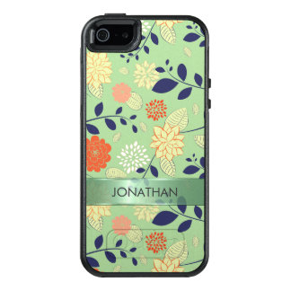 Funda Otterbox Para iPhone 5/5s/SE Flores beige y anaranjadas