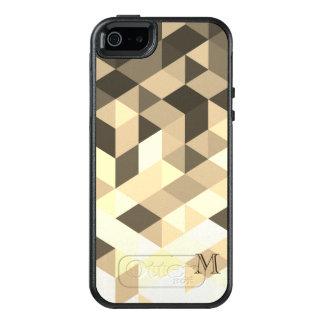 Funda Otterbox Para iPhone 5/5s/SE Formas geométricas cones monograma de Brown oscuro