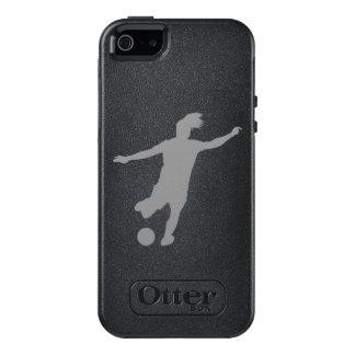 Funda Otterbox Para iPhone 5/5s/SE Jugador de fútbol de la mujer