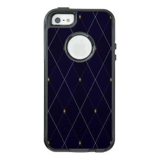 Funda Otterbox Para iPhone 5/5s/SE Marina de guerra brillante Argyle del diamante
