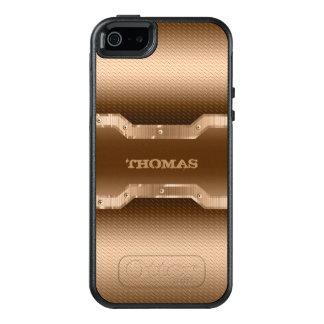 Funda Otterbox Para iPhone 5/5s/SE Mirada cepillada marrón clara del metal