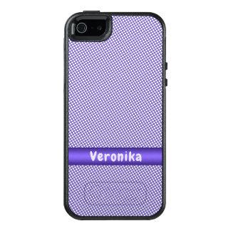 Funda Otterbox Para iPhone 5/5s/SE Pequeño modelo violeta de la tela escocesa