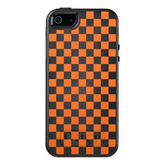 Funda Otterbox Para iPhone 5/5s/SE Tablero de damas anaranjado