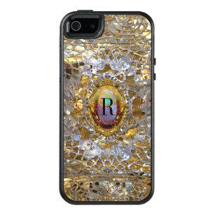 Funda Otterbox Para iPhone 5/5s/SE Viejo monograma personalizado de Hollywood chica
