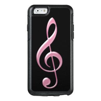 Funda Otterbox Para iPhone 6/6s Caso de cristal rosado del iPhone 6/6s del Clef