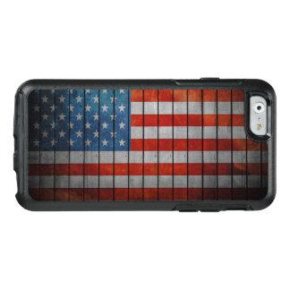 Funda Otterbox Para iPhone 6/6s Cerca pintada de la bandera americana