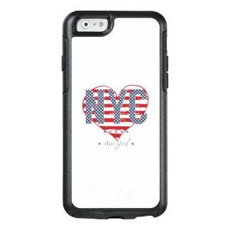 Funda Otterbox Para iPhone 6/6s Corazón de la bandera americana de NYC