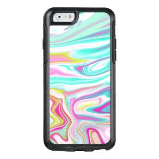 Funda Otterbox Para iPhone 6/6s Diseño de mármol iridiscente colorido