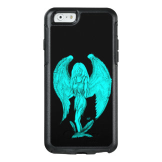Funda Otterbox Para iPhone 6/6s Diseño del ángel, del negro y del verde