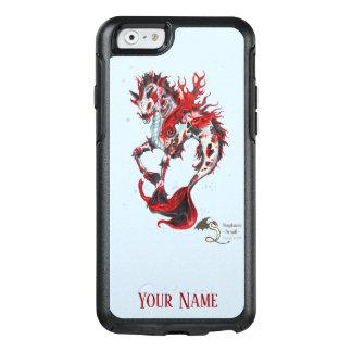 Funda Otterbox Para iPhone 6/6s El caballo rojo de los pescados de Koi del negro