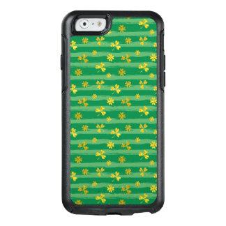 Funda Otterbox Para iPhone 6/6s El verde de oro del trébol de St Patrick raya el