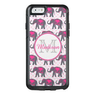 Funda Otterbox Para iPhone 6/6s Elefantes de rosas fuertes grises en los lunares
