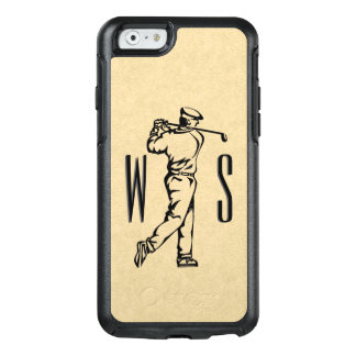 Funda Otterbox Para iPhone 6/6s Golfista en la mirada de cuero con monograma