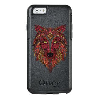 Funda Otterbox Para iPhone 6/6s Gris del amarillo de la cabeza del lobo rojo