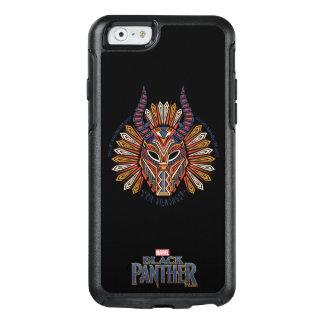 Funda Otterbox Para iPhone 6/6s Icono tribal negro de la máscara de la pantera el
