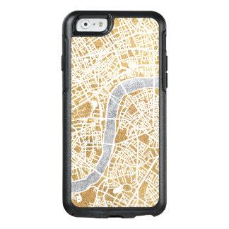 Funda Otterbox Para iPhone 6/6s Mapa dorado de la ciudad de Londres