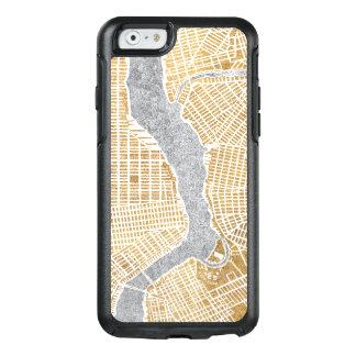 Funda Otterbox Para iPhone 6/6s Mapa dorado de la ciudad de Nueva York