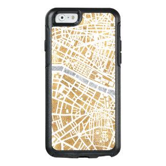 Funda Otterbox Para iPhone 6/6s Mapa dorado de la ciudad de París