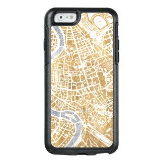 Funda Otterbox Para iPhone 6/6s Mapa dorado de la ciudad de Roma