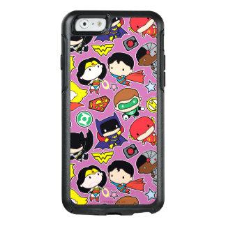 Funda Otterbox Para iPhone 6/6s Modelo de la liga de justicia de Chibi en púrpura