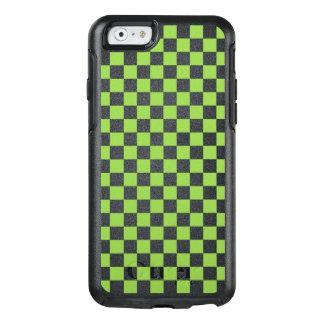 Funda Otterbox Para iPhone 6/6s Modelo del tablero de damas del verde amarillo