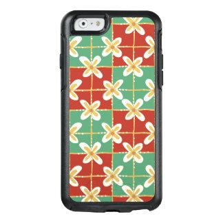 Funda Otterbox Para iPhone 6/6s Modelo floral indonesio de oro verde rojo del