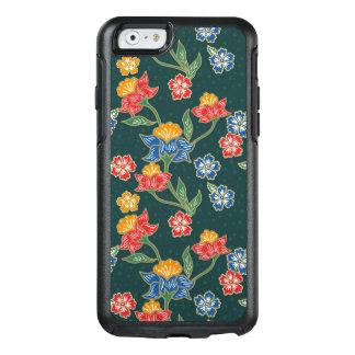 Funda Otterbox Para iPhone 6/6s Modelo floral indonesio verde oscuro del batik de