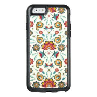 Funda Otterbox Para iPhone 6/6s Modelo floral y de las vides indonesio amarillo