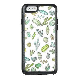 Funda Otterbox Para iPhone 6/6s Modelo verde lindo del cactus del verano de la