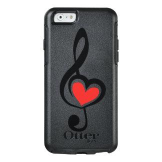 Funda Otterbox Para iPhone 6/6s Música del amor del Clef del ejemplo