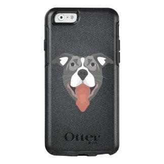 Funda Otterbox Para iPhone 6/6s Perro Pitbull sonriente del ilustracion