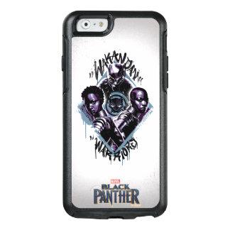 Funda Otterbox Para iPhone 6/6s Pintada de los guerreros de la pantera negra el |