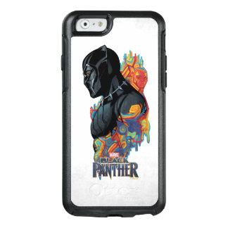 Funda Otterbox Para iPhone 6/6s Pintada tribal de la pantera negra de la pantera