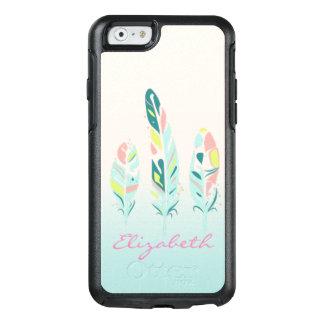 Funda Otterbox Para iPhone 6/6s Plumas femeninas modernas lindas adorables