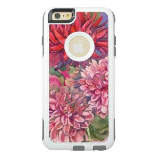 Funda Otterbox Para iPhone 6/6s Plus acuarela de las flores de las dalias