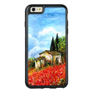 Funda Otterbox Para iPhone 6/6s Plus AMAPOLAS EN TOSCANA/paisaje con los campos de flor