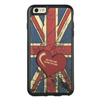 Funda Otterbox Para iPhone 6/6s Plus Amo la bandera apenada Gran Bretaña
