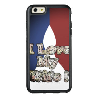 Funda Otterbox Para iPhone 6/6s Plus Amor nacional romántico del color I del azul