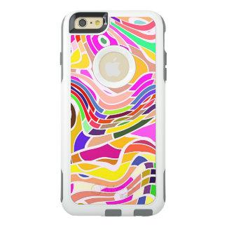 Funda Otterbox Para iPhone 6/6s Plus Arte abstracto colorido, líneas blancas de las